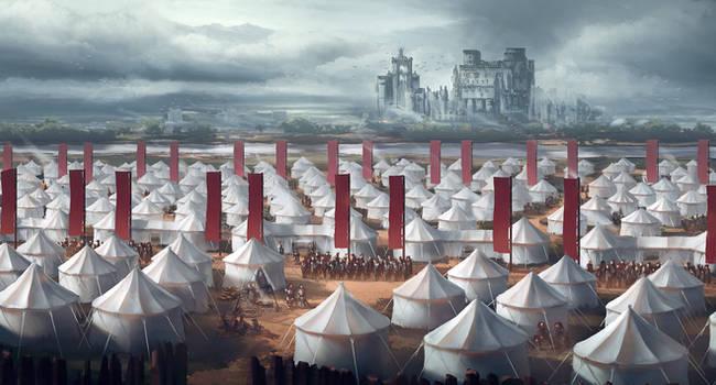 Crimson sacrifice by DamianKrzywonos