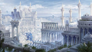 Qrath Empire (cityscape fantasy concept art)
