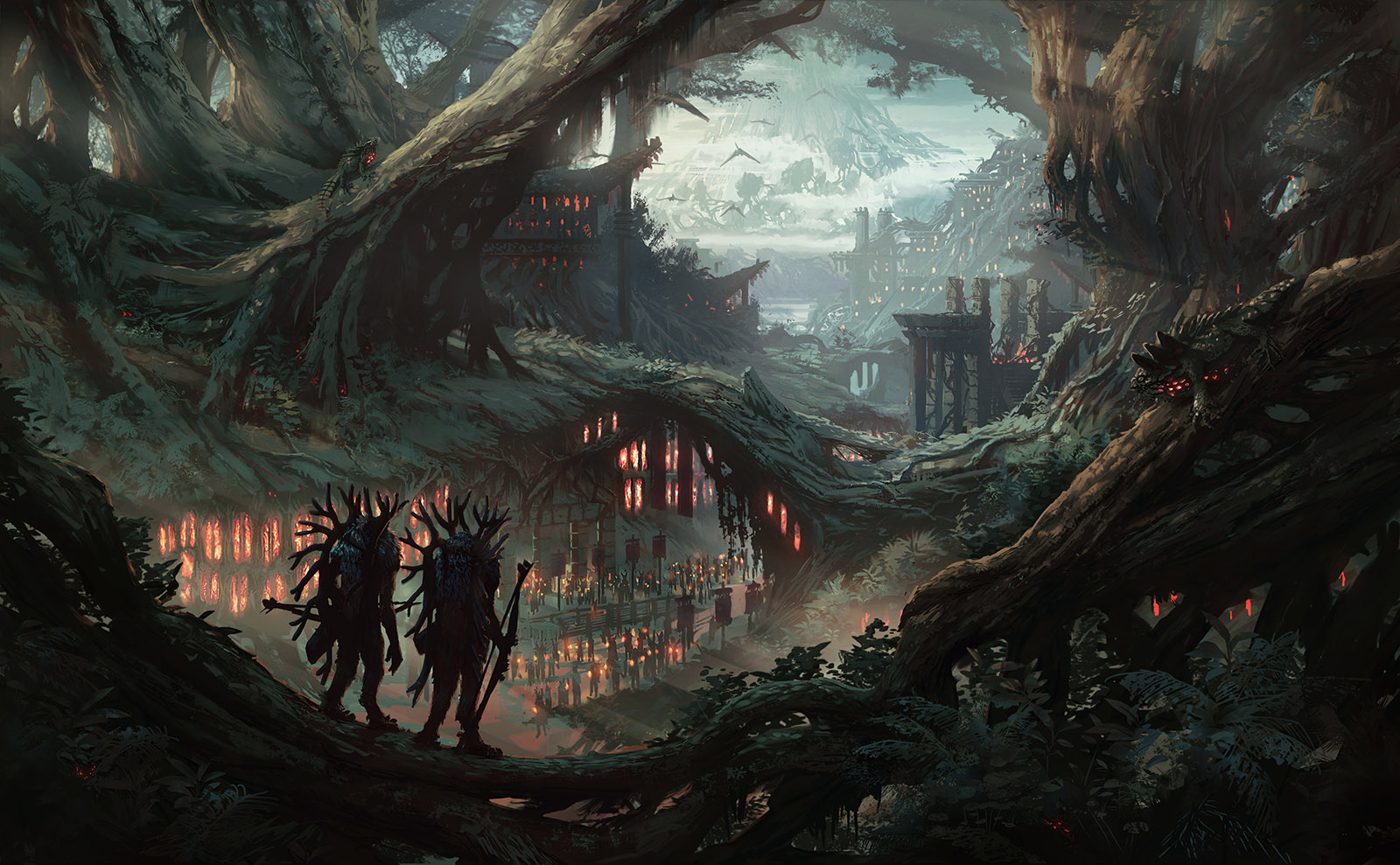 Root Witches (forest fantasy environment concept)