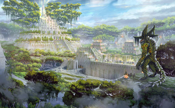 Zenith Sworn (forest fantasy environment concept)