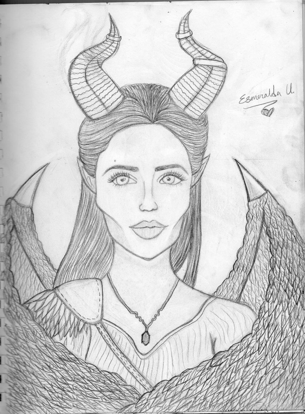 Maleficent - Angelina Jolie by KoreaLovee on DeviantArt