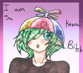 Contest entry - Topaz c: - I'm so kawaii....betch by SinaiTheFabCactus