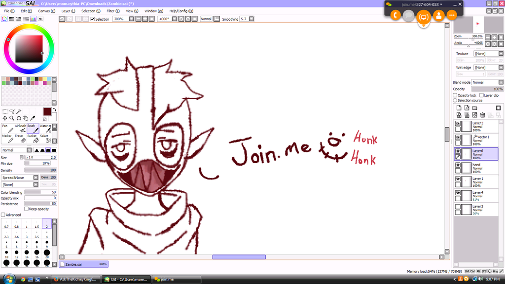 Character sketching - Join.me stream thingy-closed by SinaiTheFabCactus