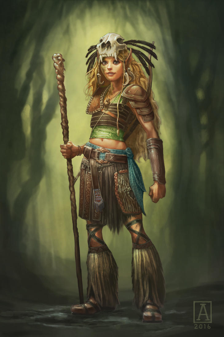 Kaaovale, Wild Elven Druid by Smolin