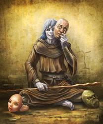 Novo, Changeling Monk/Druid by Smolin