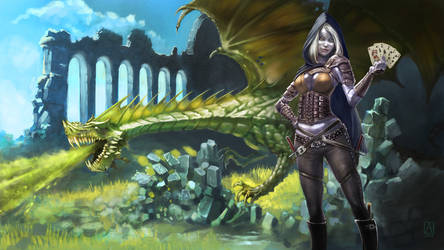 Commission: Keenix, Drow Rogue by Smolin