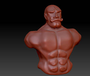 Major Armstrong ZBrush WIP