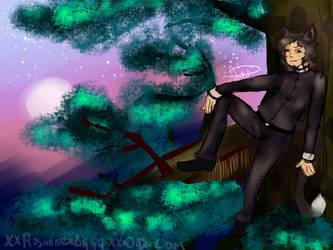 Ziggy in trees by xXRosannexZiggyXx