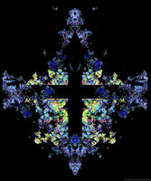 Stained Glass Cross by tijir