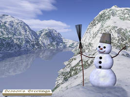 Snowman Greetings by tijir