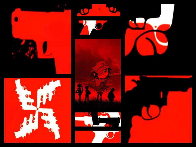 kids with guns gorillaz: