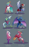 Hawlucha Variations by hollarity