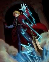 Knight of Wands - Edward Elric by hollarity