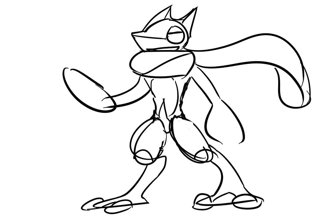 pokemon greninja coloring pages - photo#31