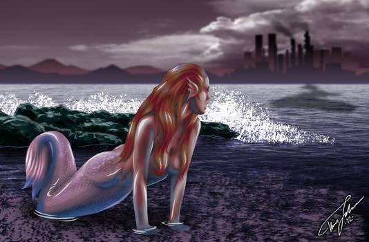 Mermaid in Shock (Dark version)