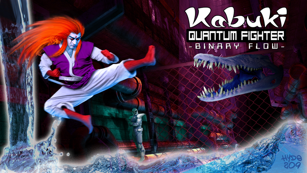 Kabuki Quantum Fighter - Binary Flow by Hyde209