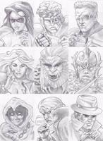 Eternal Champions Portrait Drawings