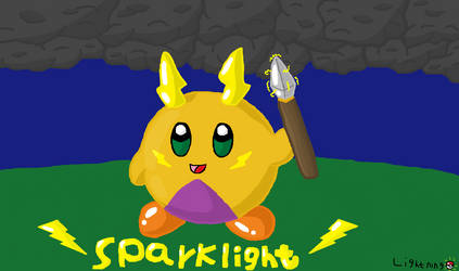 kirby OC: Sparklight by lightning-the-emolga