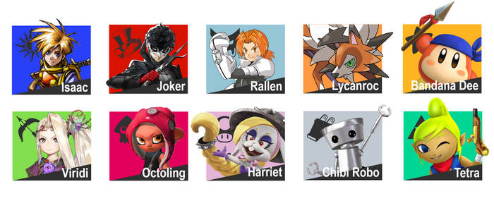 Top 10 Characters I want for SSB Ultimate