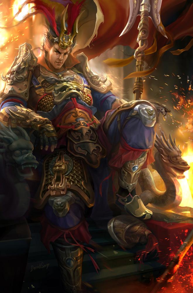 dynasty warrior fanart lu bu by derricksong on deviantart