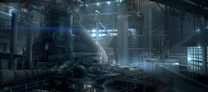 Environment concept art - Power Station