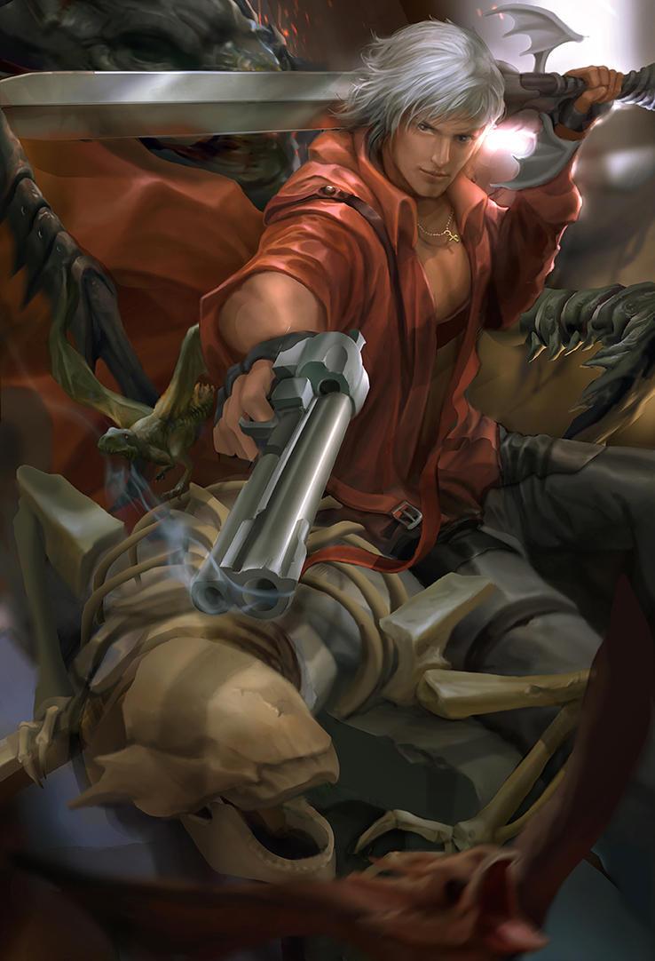 Devil may cry fan art - Dante by derrickSong