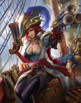 League of Legends - Captain Fortune fanart