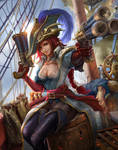 League of Legends - Captain Fortune fanart