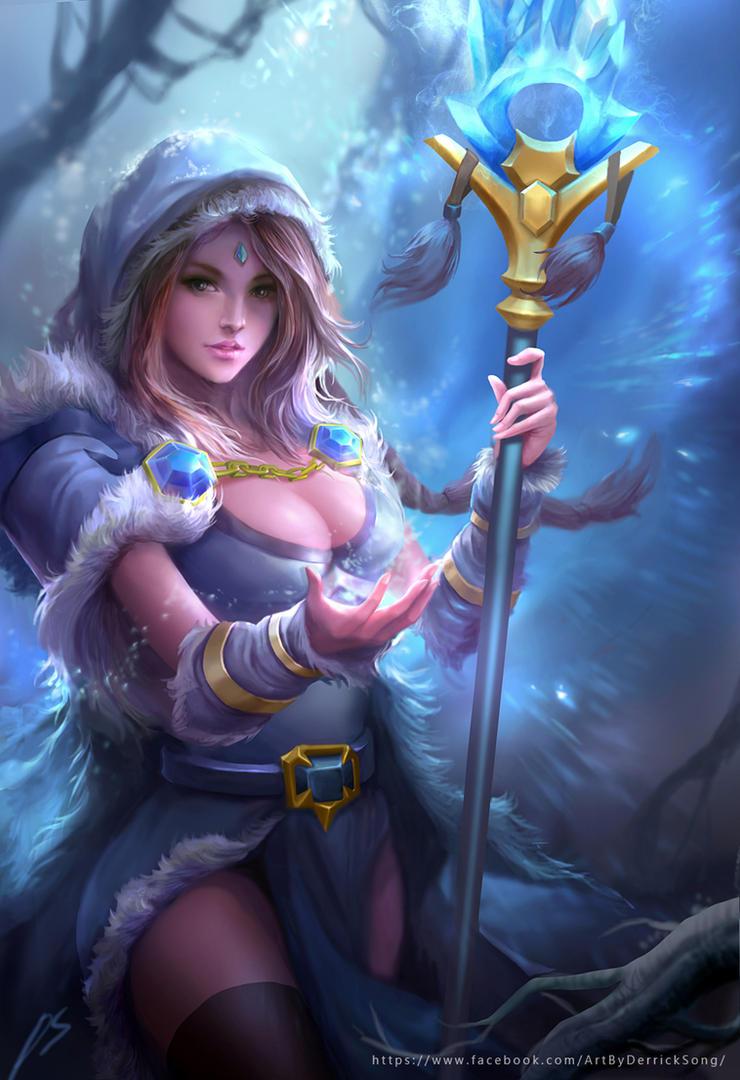 Dota 2 Crystal Maiden fanart by derrickSong