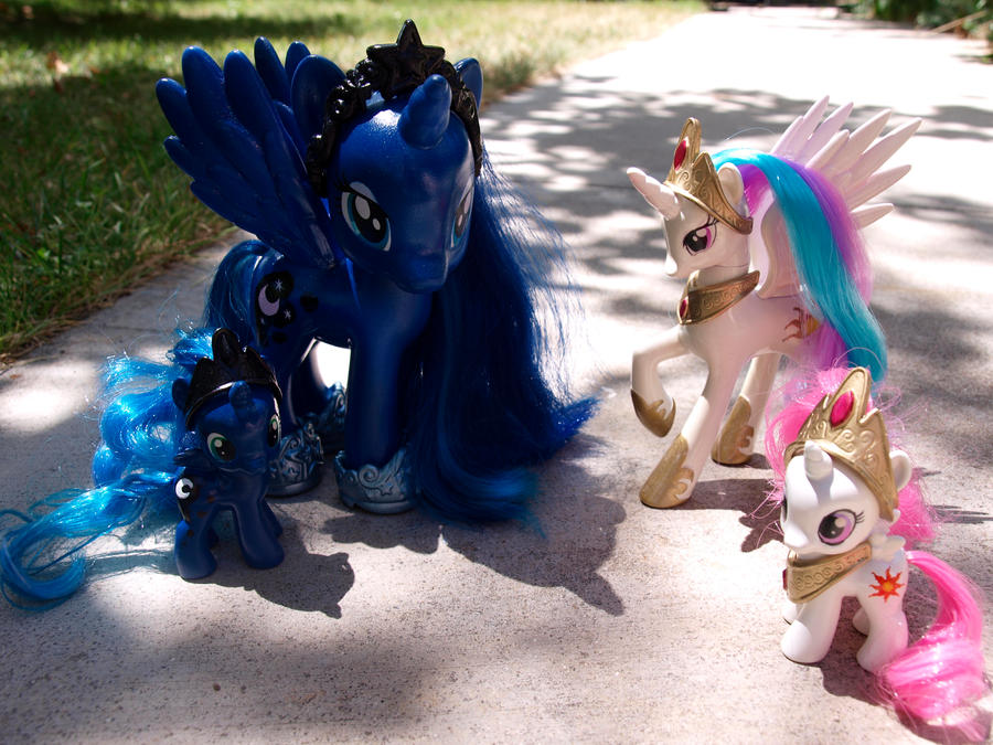 Custom Royalty Luna, Celestia, and Fillies by Agony-Roses