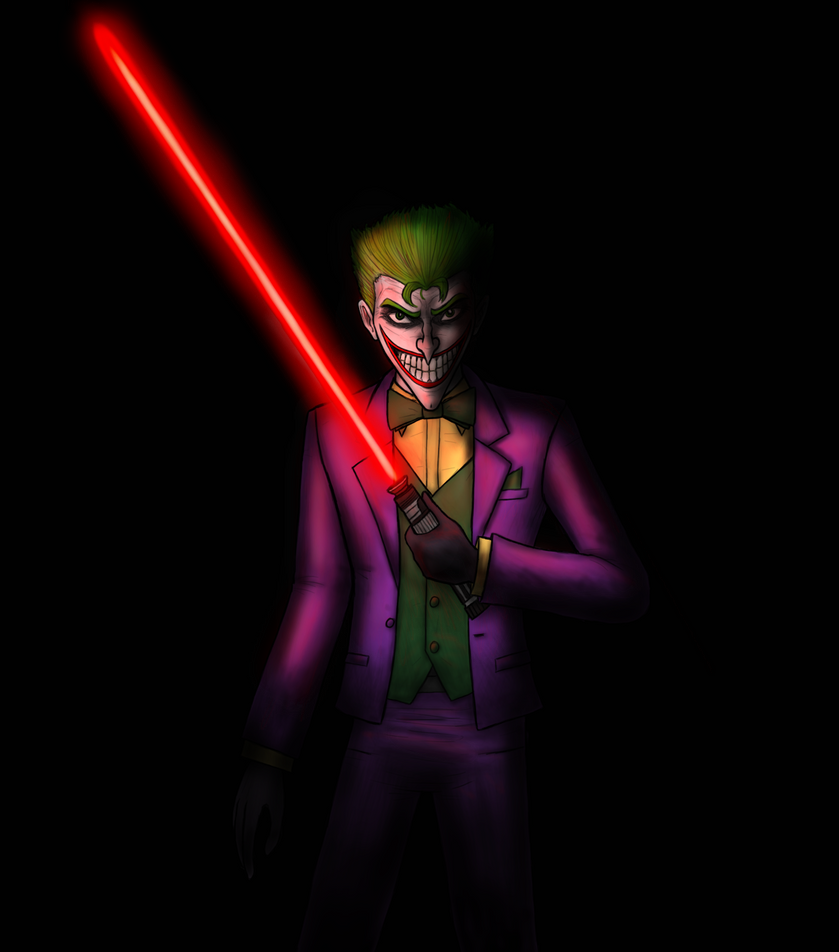 Joker With A Lightsaber by ramisirote