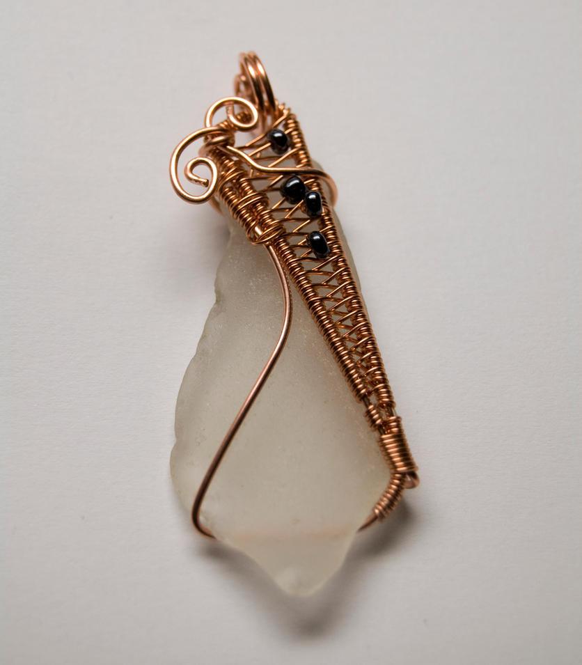 Sea glass pendant # 40 by Freak7109
