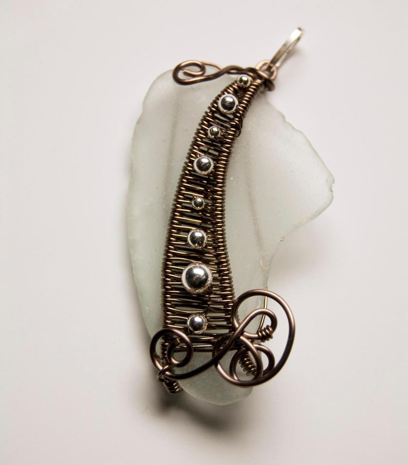 Sea glass pendant # 41 by Freak7109