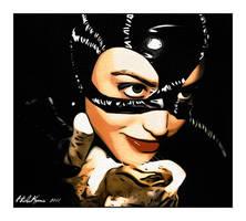 Catwoman with cat by HidaKuma