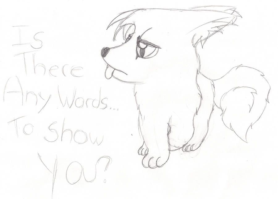 Is there? -sketch by Sparkleztehpurplecat
