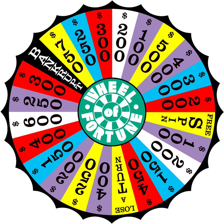 how to make a wheel of fortune spinner