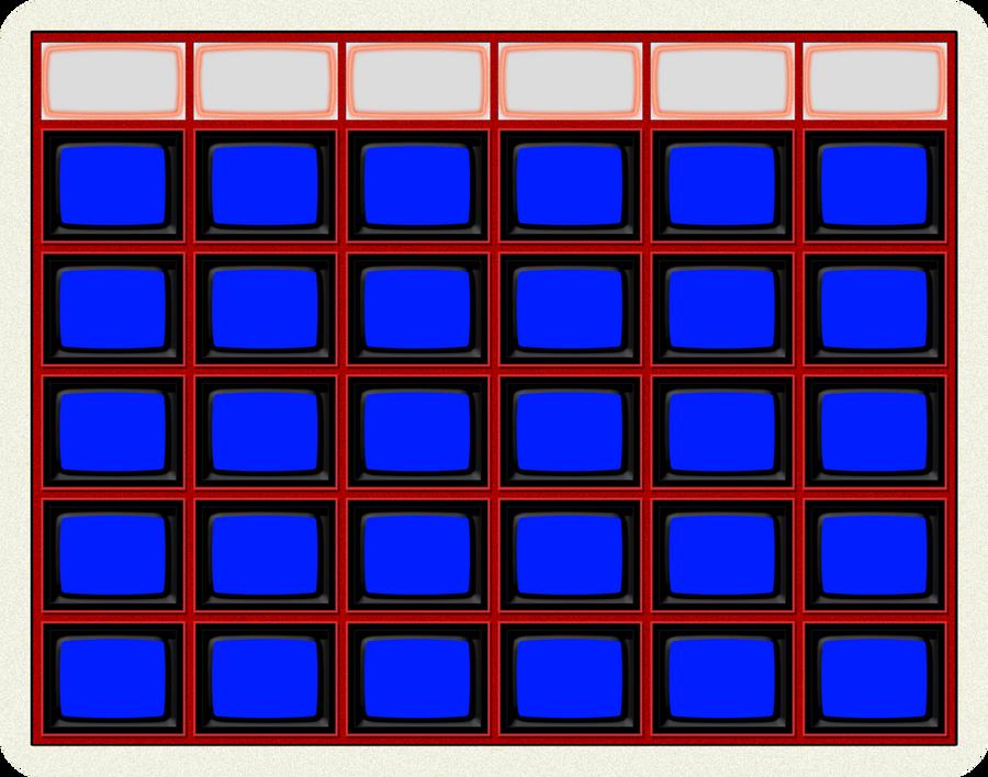 jepordy template - blank jeopardy board 1984 by wheelgenius on deviantart