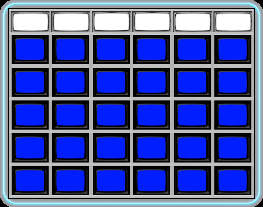 blank jeopardy  board
