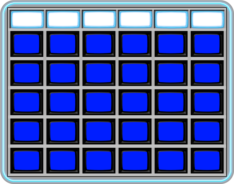 Blank Jeopardy board 1984 by wheelgenius on DeviantArt – Blank Jeopardy Template