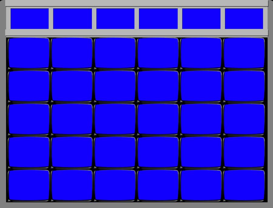 Blank Jeopardy Board Blank jeopardy! board - 1991