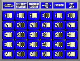 Jeopardy! board - 1991 - round 1 by wheelgenius
