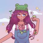 Acatcie Dtiys Phrog | frog girl