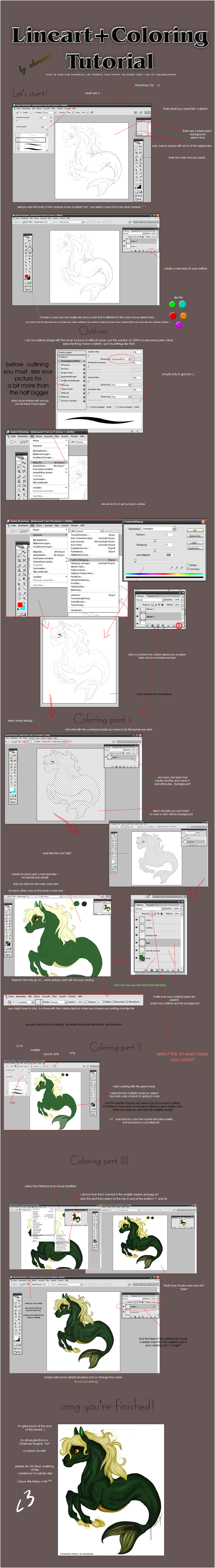 lineart and shading tutorial by akirataka