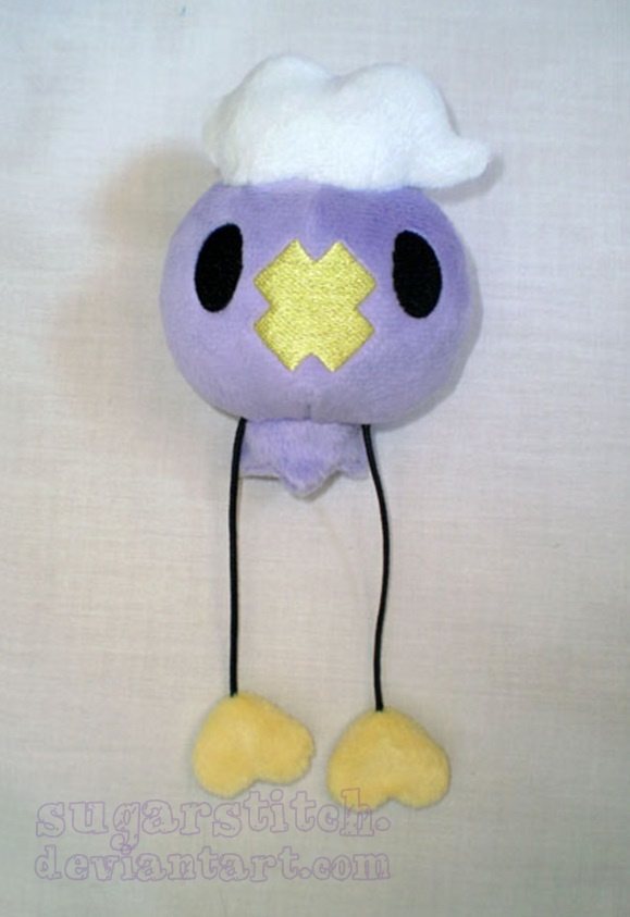 Pokemon: Drifloon Plush by sugarstitch