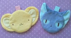 Card Captor Sakura: Kero and Suppi Zipper Pouches by sugarstitch