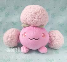 Pokemon: OOAK Shiny Jumpluff by sugarstitch