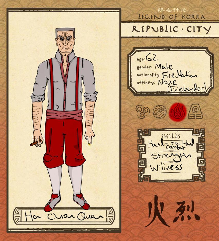 Republic City: Ha Chou Quan by Tarfellarn