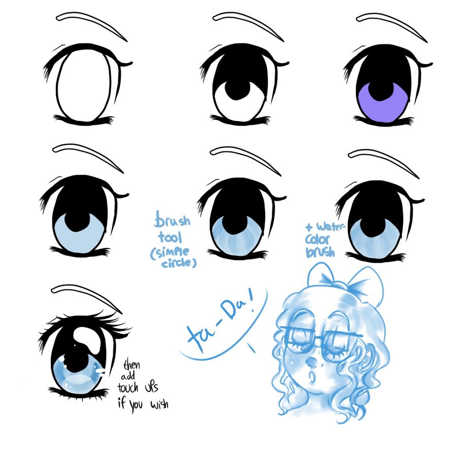 Sheer anime girl eyes