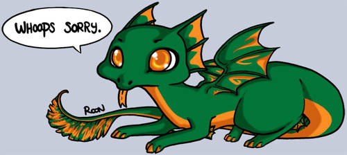 DC: Frill Dragon by Rooncakes