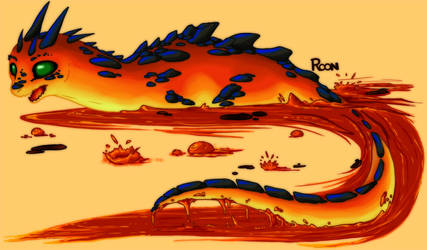 DC: Magma Dragon by Rooncakes